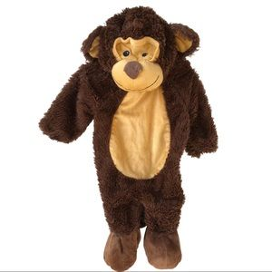 Infant Zip Up Monkey Costume Size 6-12 months